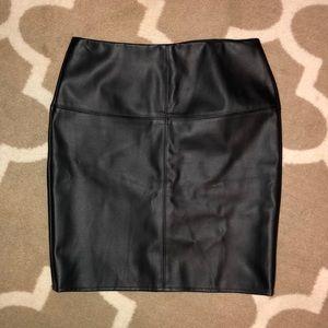 Missguided Leather Mini Skirt
